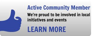 Active Community Member - We're proud to be involved in local initiatives and events -