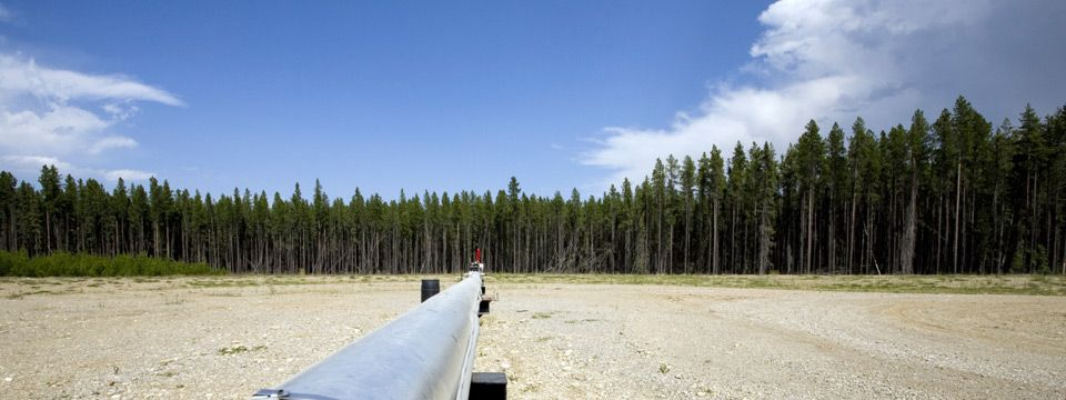 A pipeline near an Alberta community