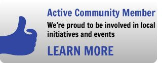 Active Community Member - We're proud to be involved in local initiatives and events - Learn More